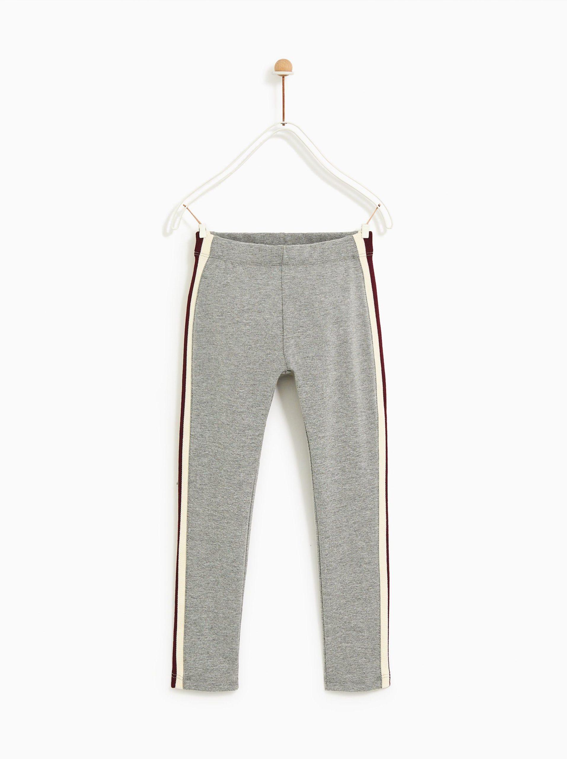 Image 1 Of Side Stripe Leggings From Zara | Vêtements Filles pour Gratuit Pour Fille