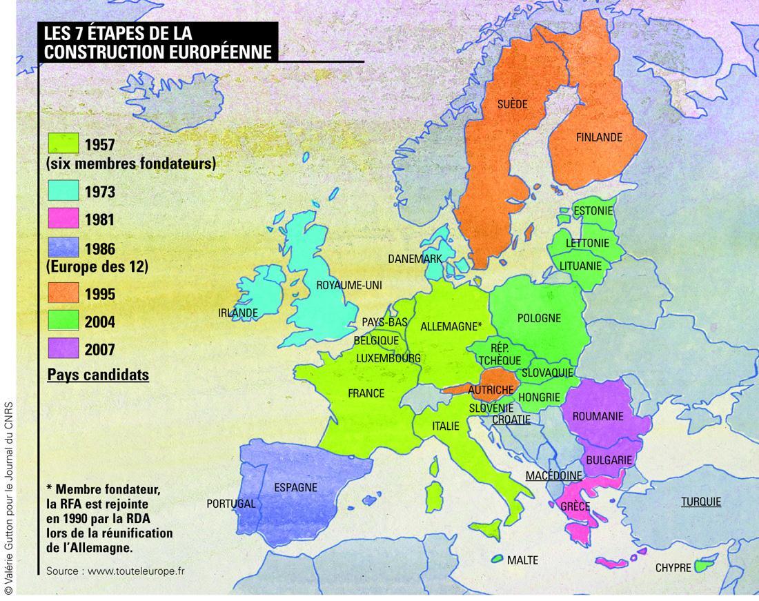 Image - 7 Étapes De La Construction Européenne encequiconcerne Carte Construction Européenne