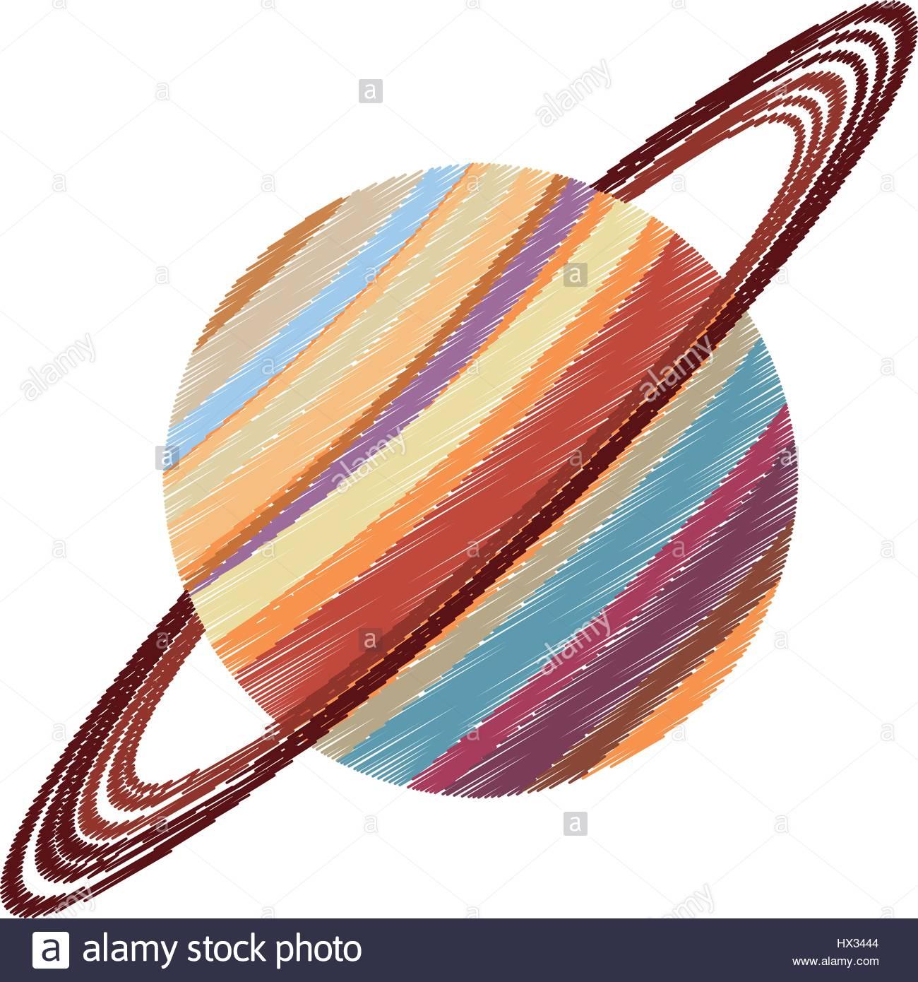 Image Astronomie Planète Saturne Dessin Vecteurs Et dedans Saturne Dessin