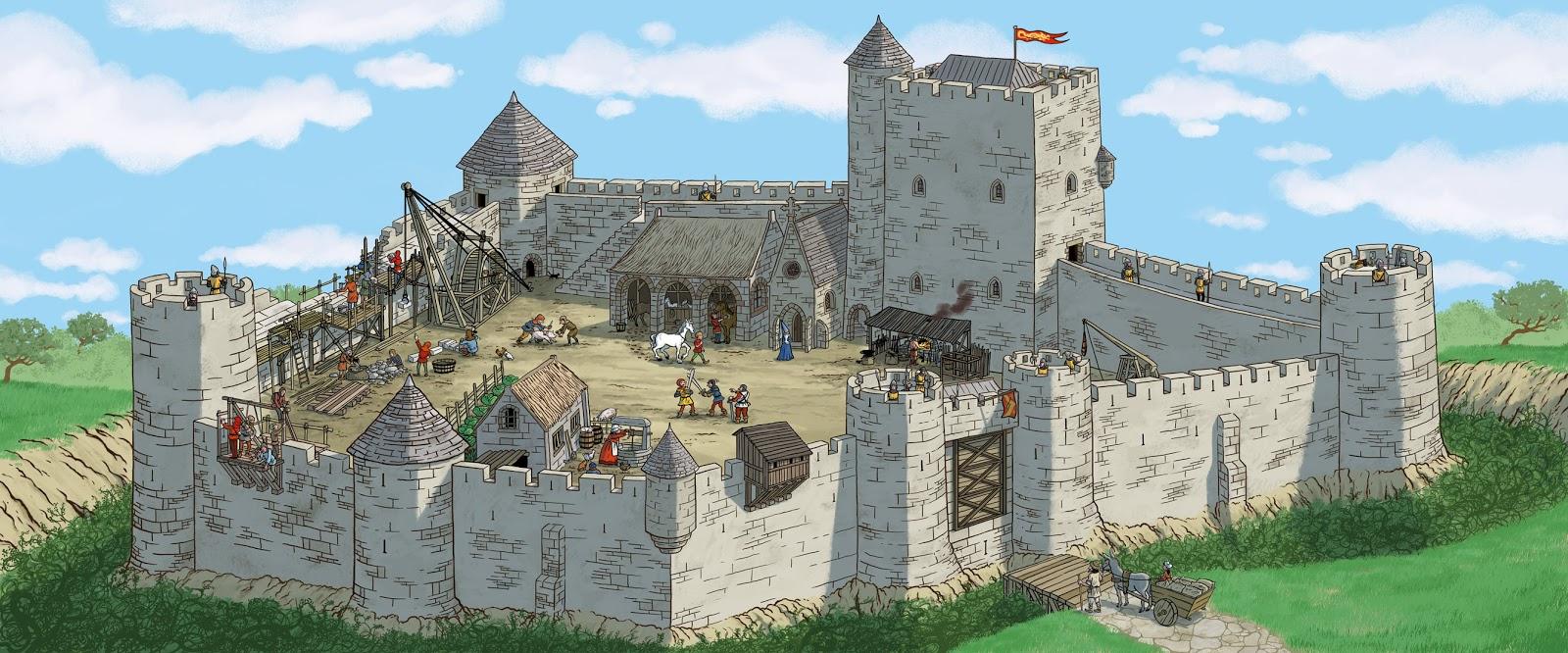 Image Chateau Fort Moyen Age destiné Image De Chateau Fort A Imprimer