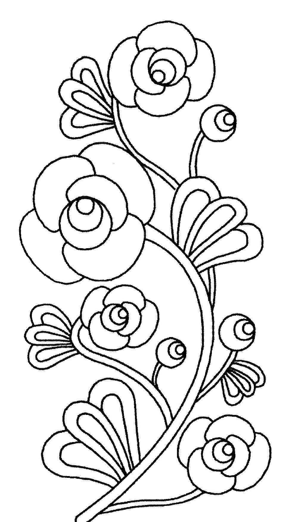 Image De Fleurs À Imprimer Et Colorier - Coloriage De Fleurs encequiconcerne Dessin A Colorier De Fleur