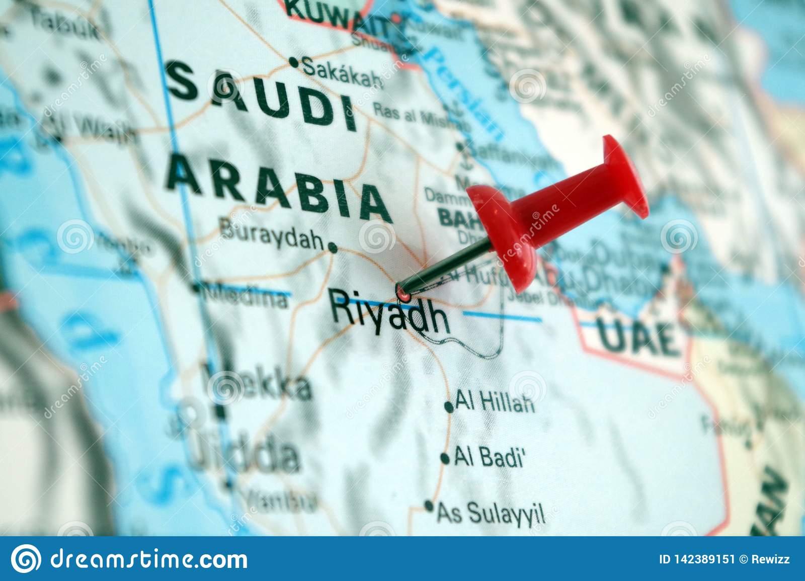 Image De Royaume De L'arabie Saoudite Sur Une Carte Du Monde à Carte Du Monde Avec Capitale