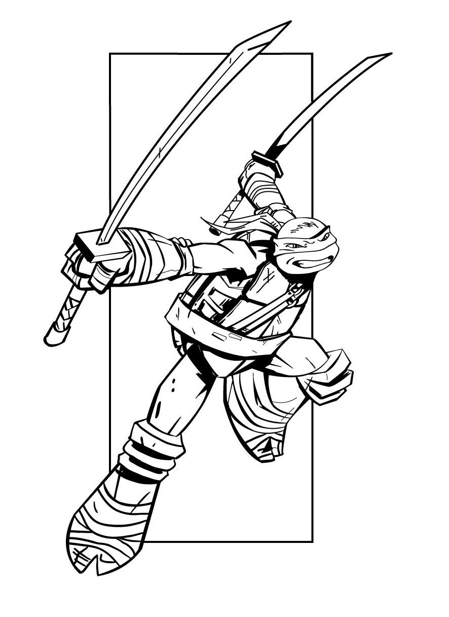 Image De Tortues Ninja À Imprimer Et Colorier - Coloriage encequiconcerne Dessin De Tortue Ninja