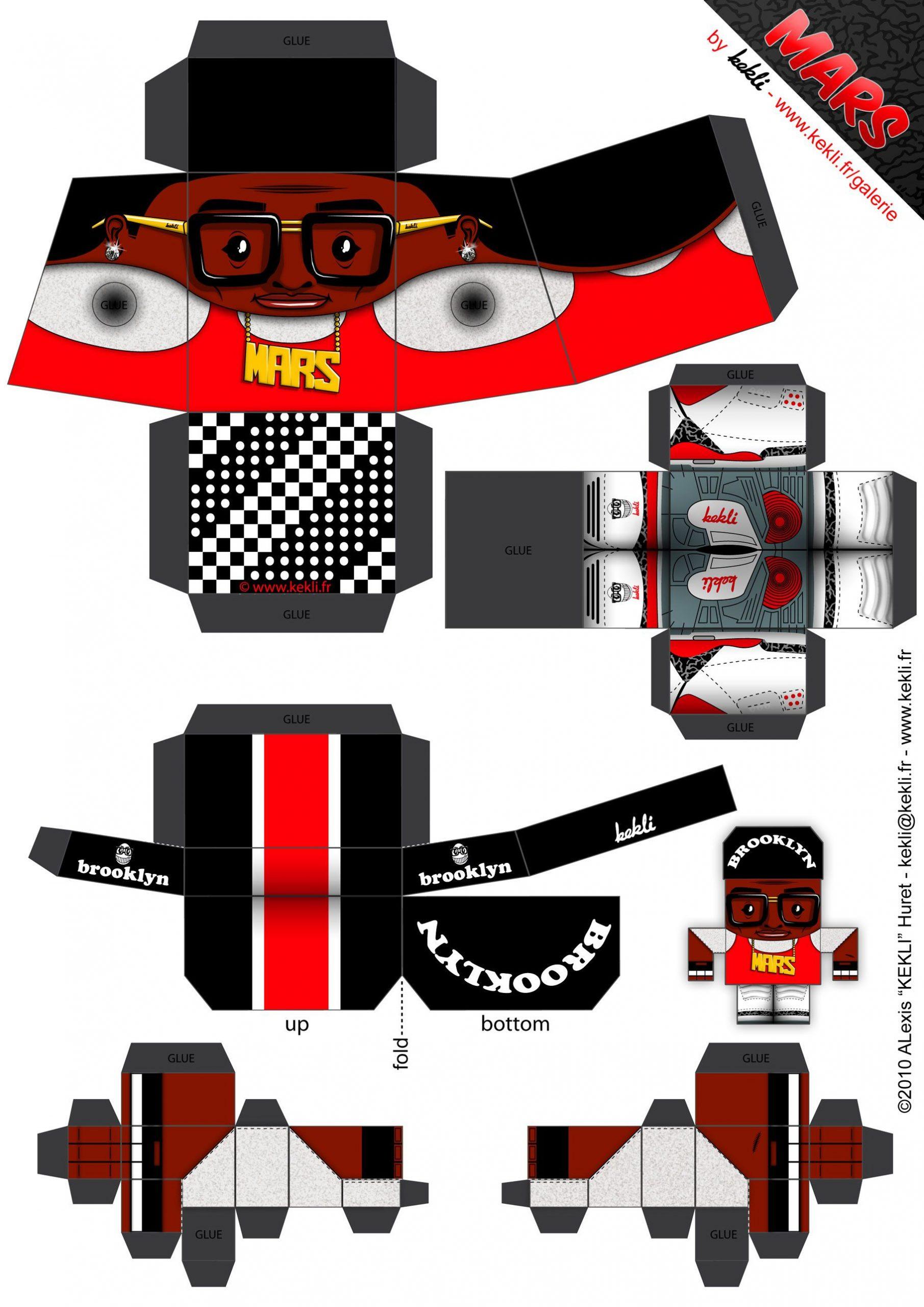Image Detail For -Blog Paper Toy Papertoy Mars Blackmon encequiconcerne Paper Toy Gratuit