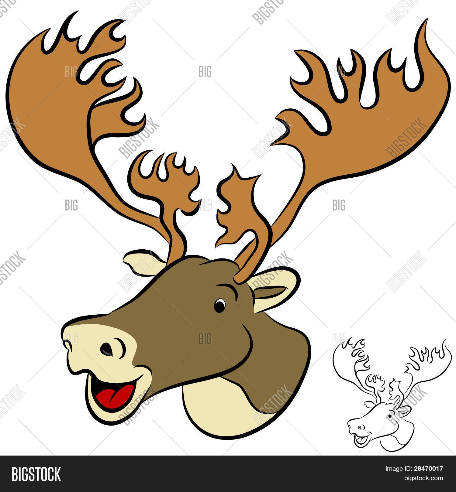 Image Et Photo De Une Image D'un (Essai Gratuit) | Bigstock pour Caribou Dessin