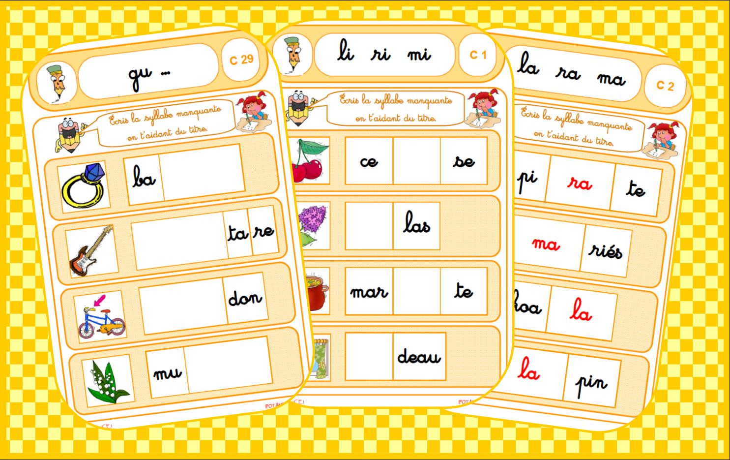 Image Result For Jeux De Lecture Cp À Imprimer | Ecole intérieur Jeux Cp À Imprimer