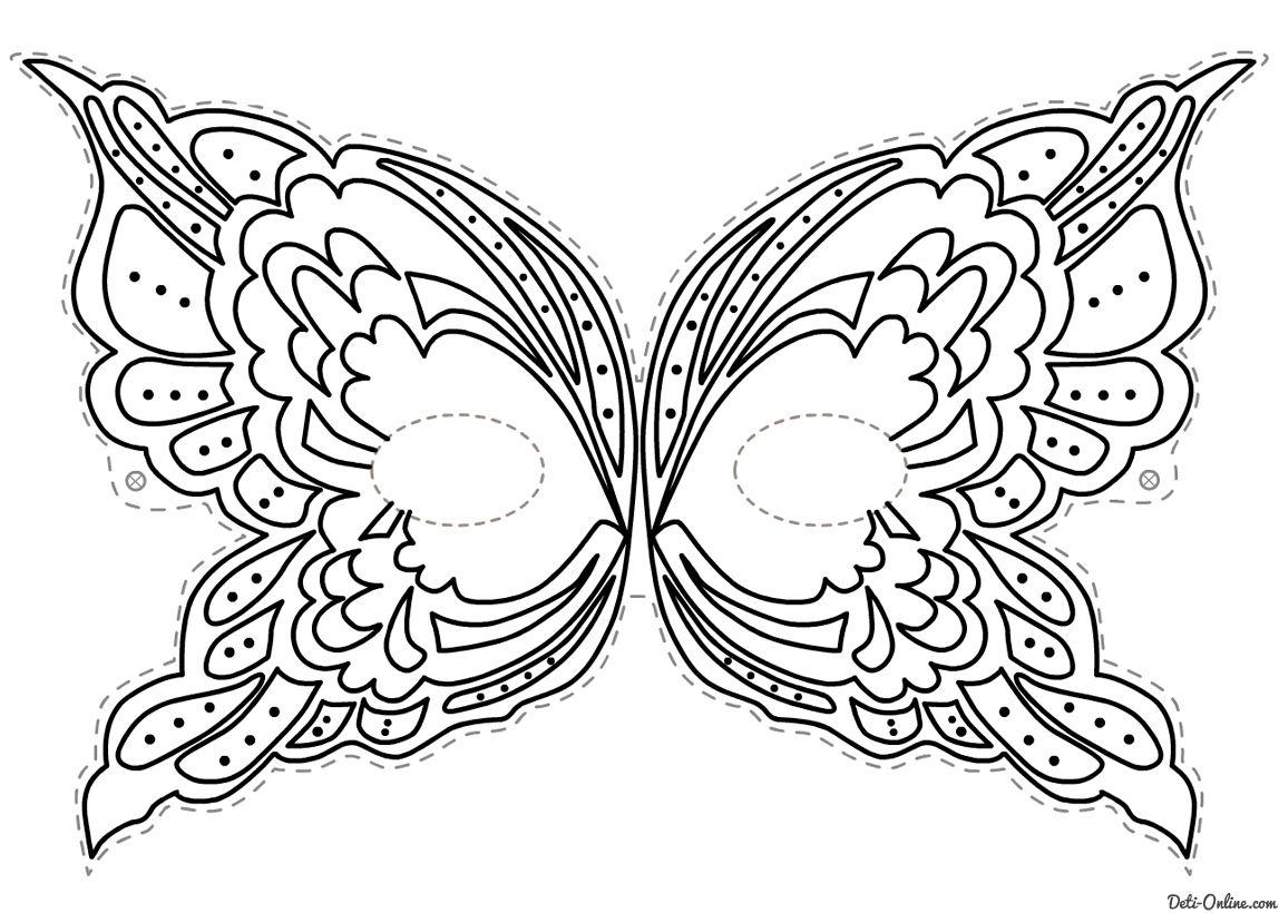 Image Result For Puff Paint On Tulle Mask | Masque Papillon pour Masque Papillon À Imprimer
