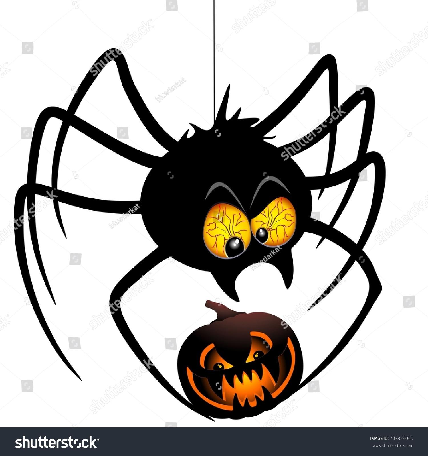 Image Vectorielle De Stock De Dessin D'araignée D'halloween intérieur Dessiner Une Araignee