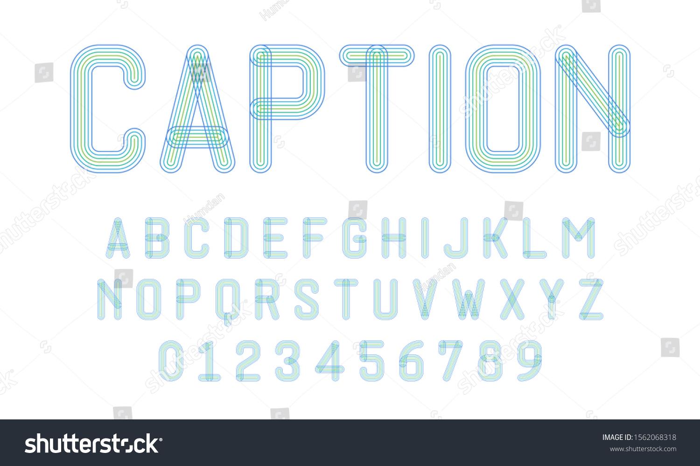 Image Vectorielle De Stock De Ensemble D'alphabets Lettres pour Gros Chiffres À Imprimer