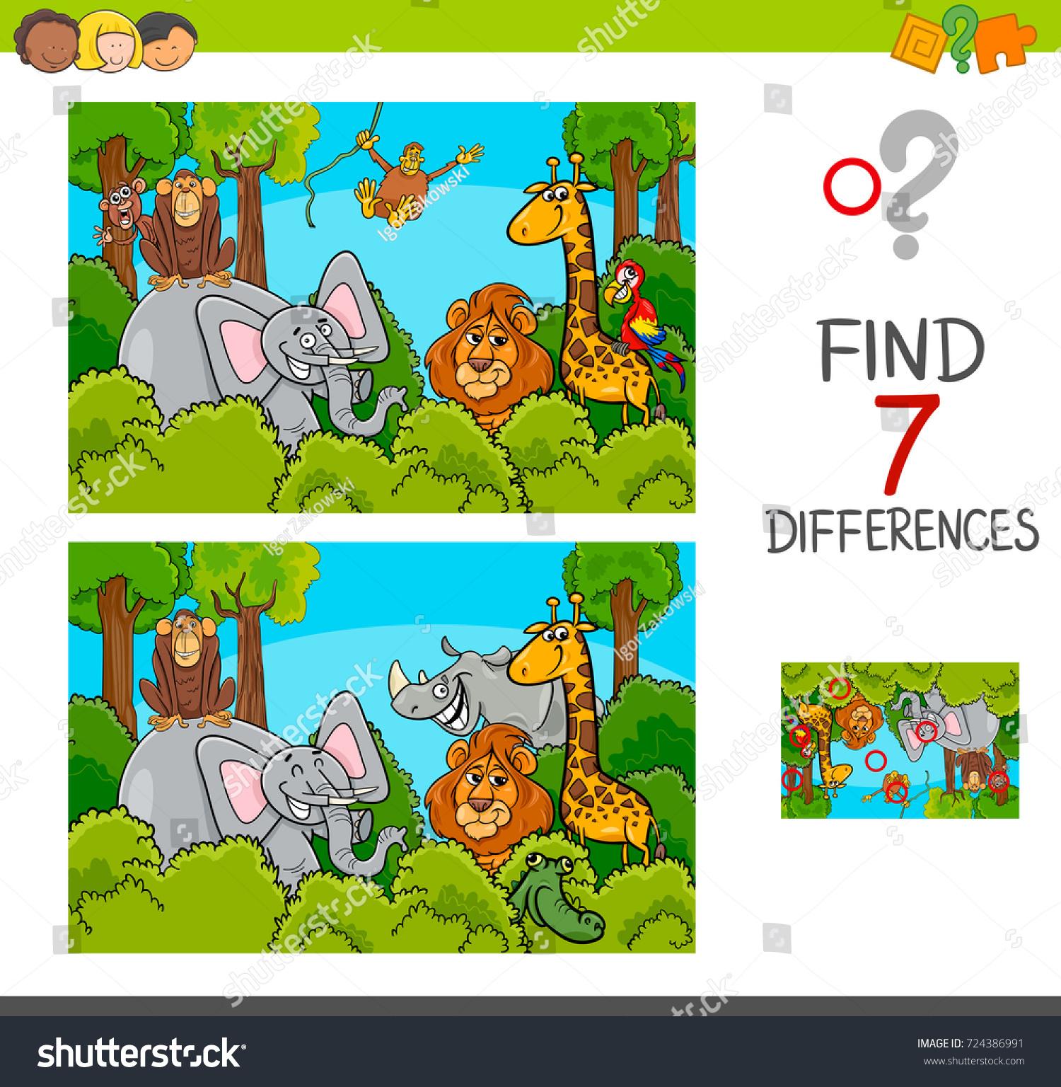 Image Vectorielle De Stock De Illustration Vectorielle De pour Trouver Les Difference