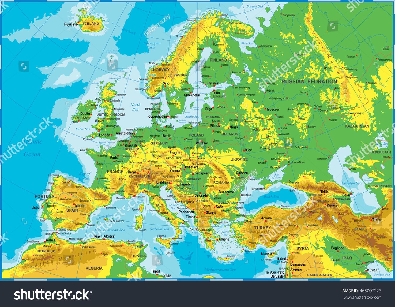 Image Vectorielle De Stock De Illustration Vectorielle Très concernant Carte De L Europe Détaillée