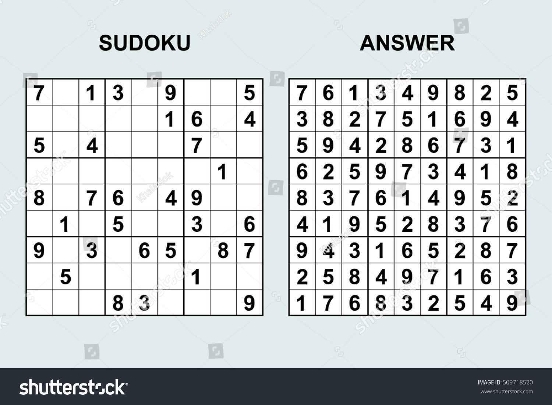 Image Vectorielle De Stock De Image Vectorielle Sudoku Avec serapportantà Jeu Le Sudoku