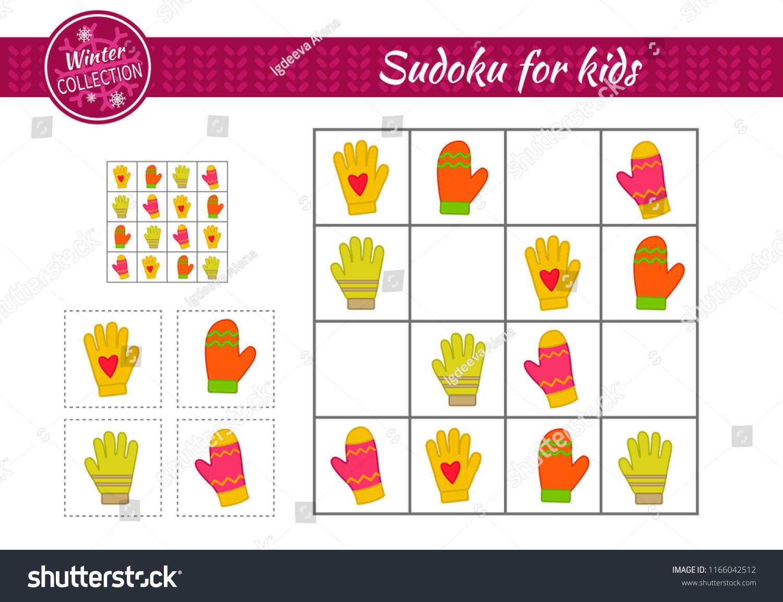 Image Vectorielle De Stock De Jeu De Sudoku Pour Les Enfants serapportantà Sudoku Pour Enfant