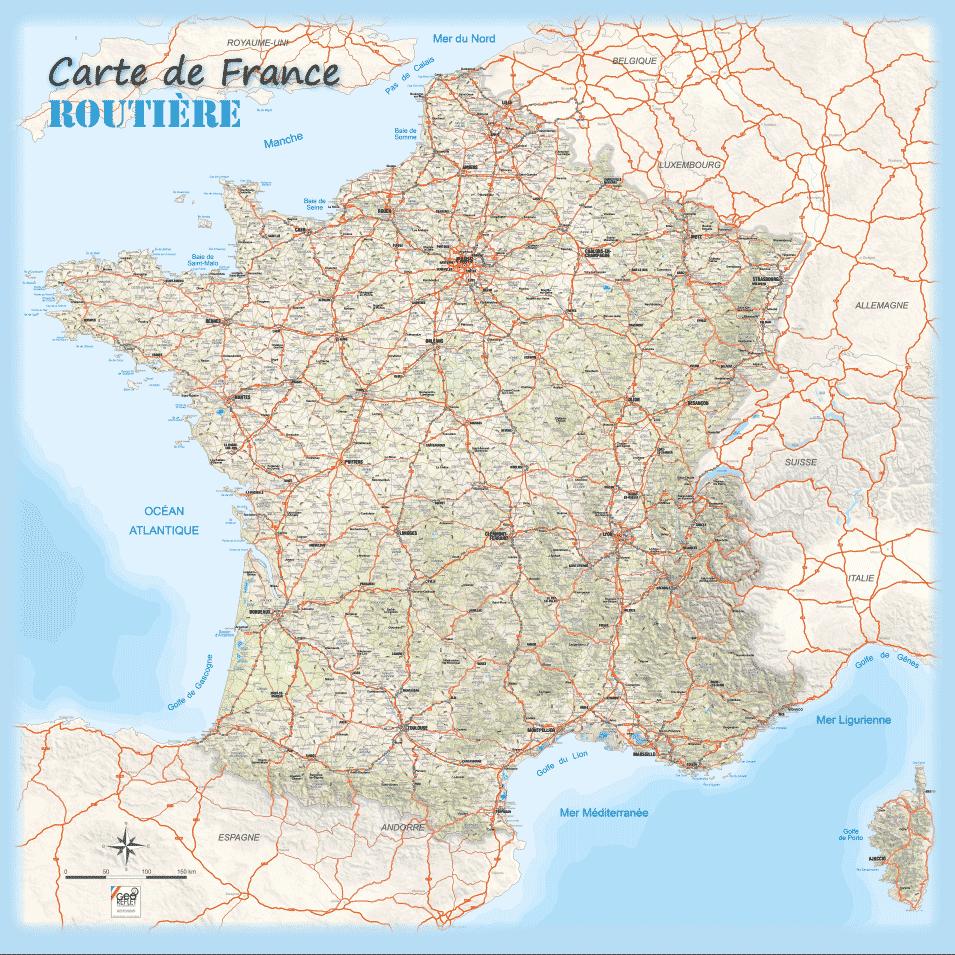 Images De Plans Et Cartes De France » Vacances - Arts à Carte De France Avec Département