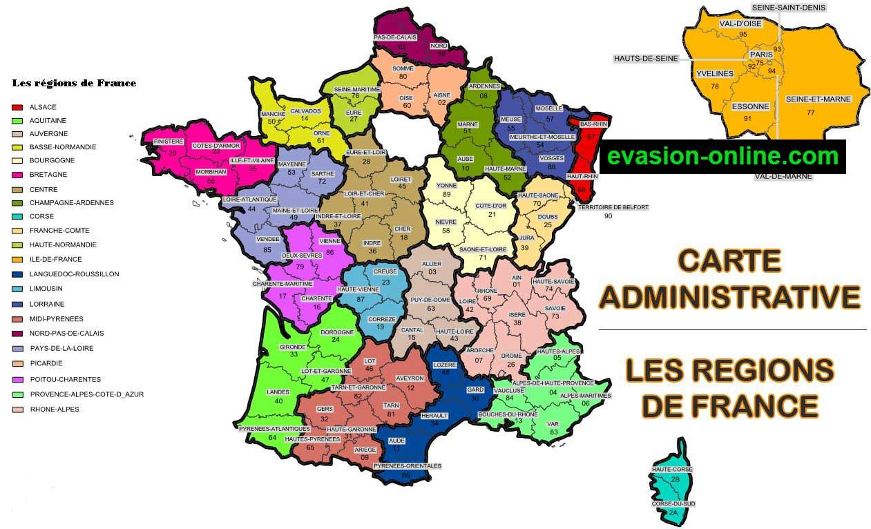Images De Plans Et Cartes De France » Vacances - Arts dedans Carte Region Departement