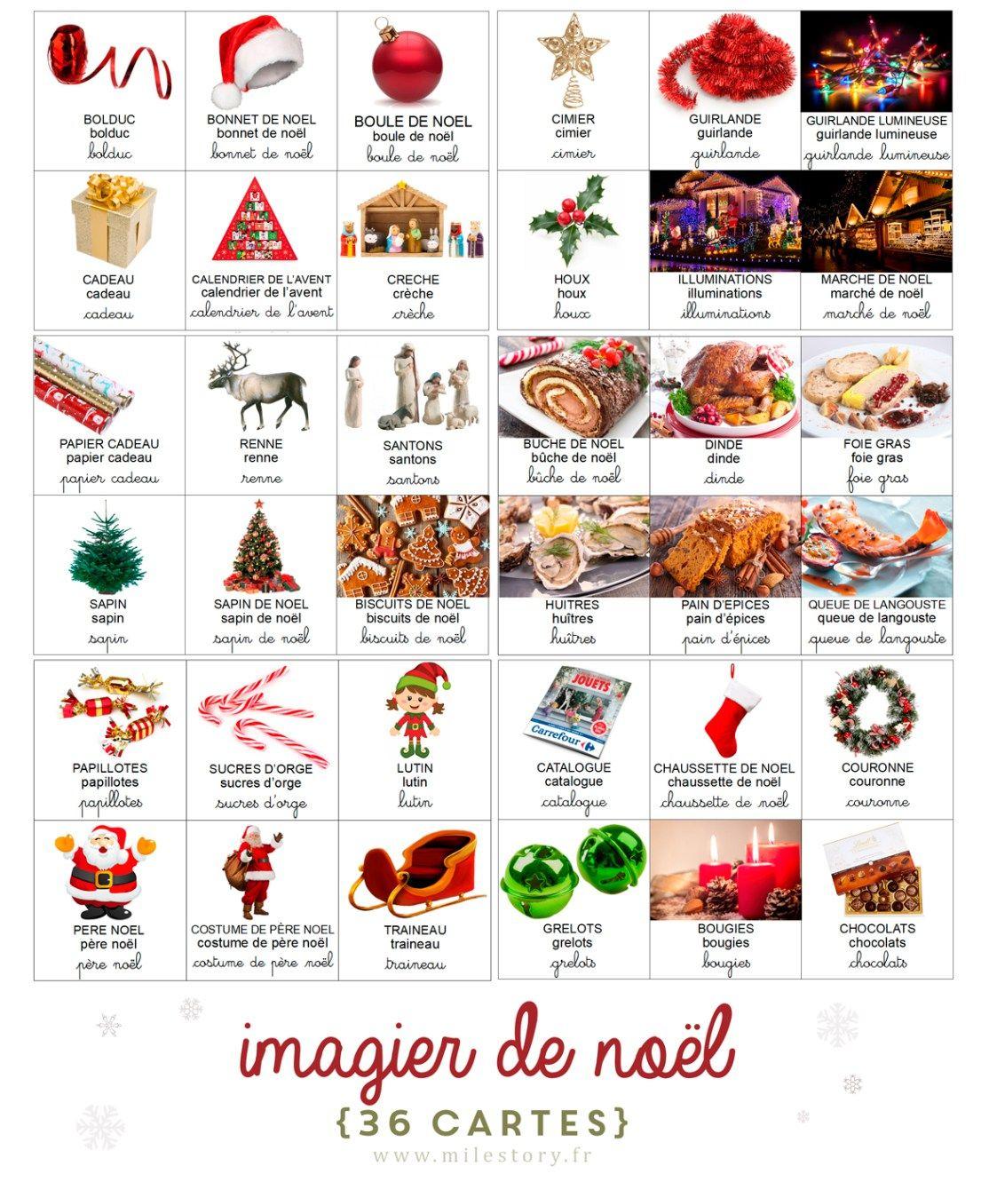 Imagier De Noël, Ief De Noël & Sélection De Livres avec Imagier Noel Maternelle