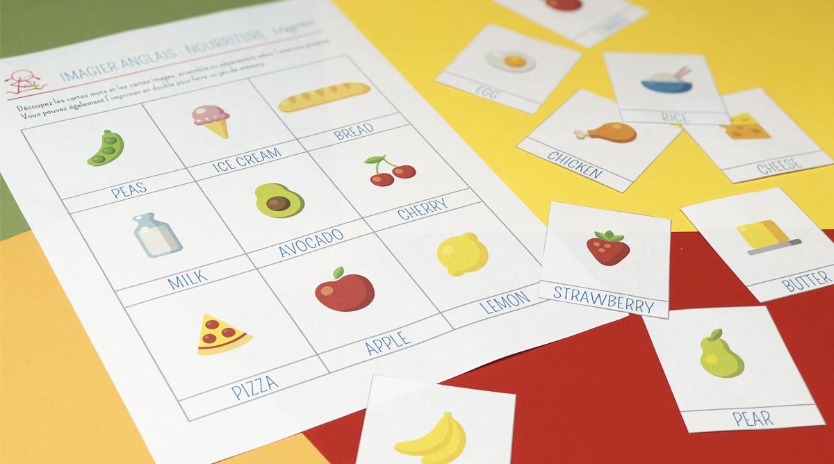 Imagier En Anglais : La Nourriture - Momes concernant Jeux En Anglais A Imprimer