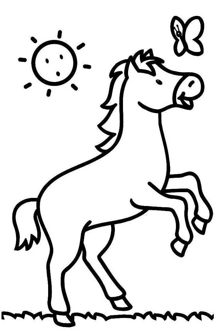 Img/dessins A Colorier/cheval | Desenhos Para Crianças serapportantà Image De Cheval A Colorier