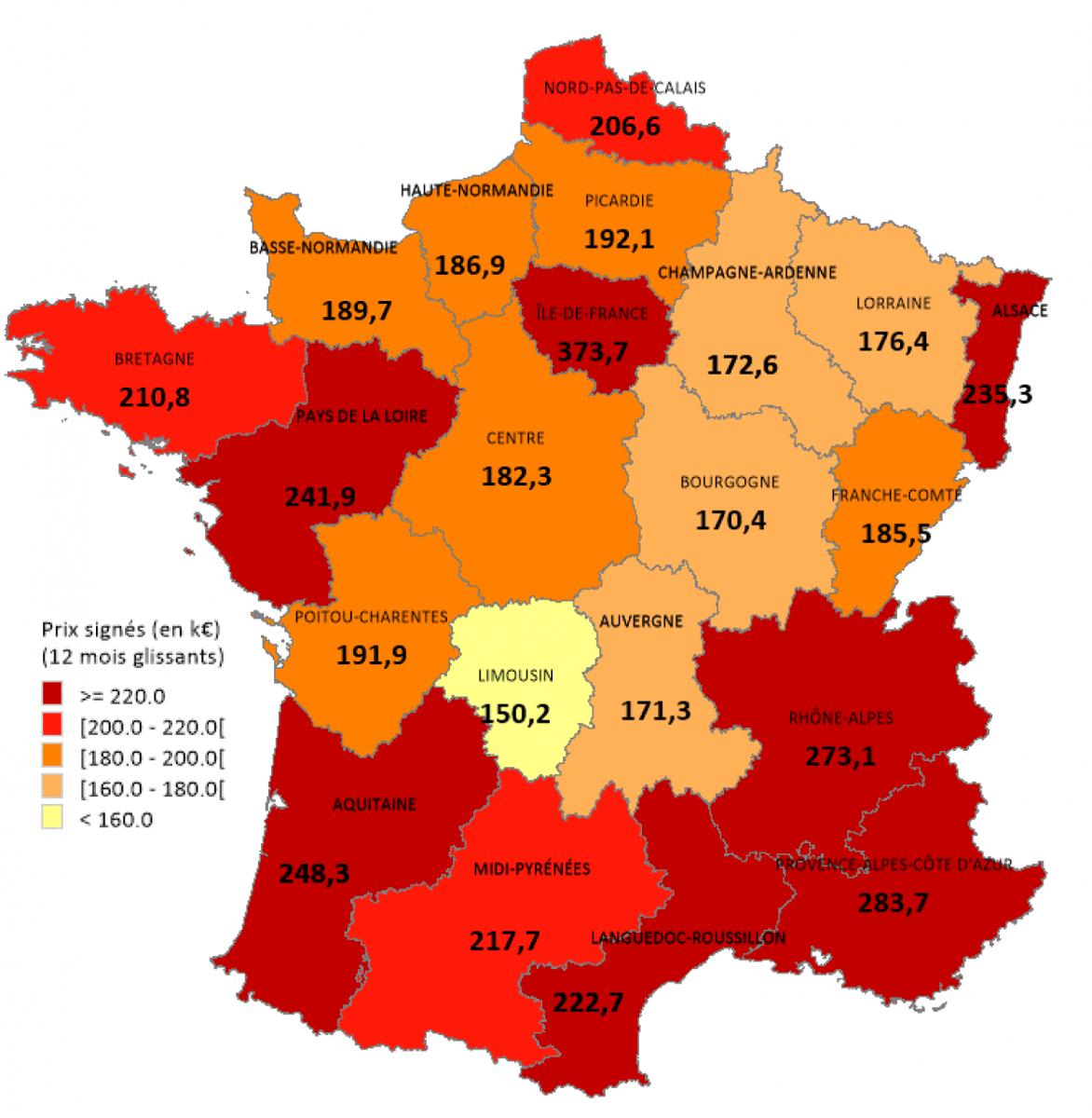 Immobilier : Combien D'années De Salaire Votre Logement Vous pour Combien De Region En France