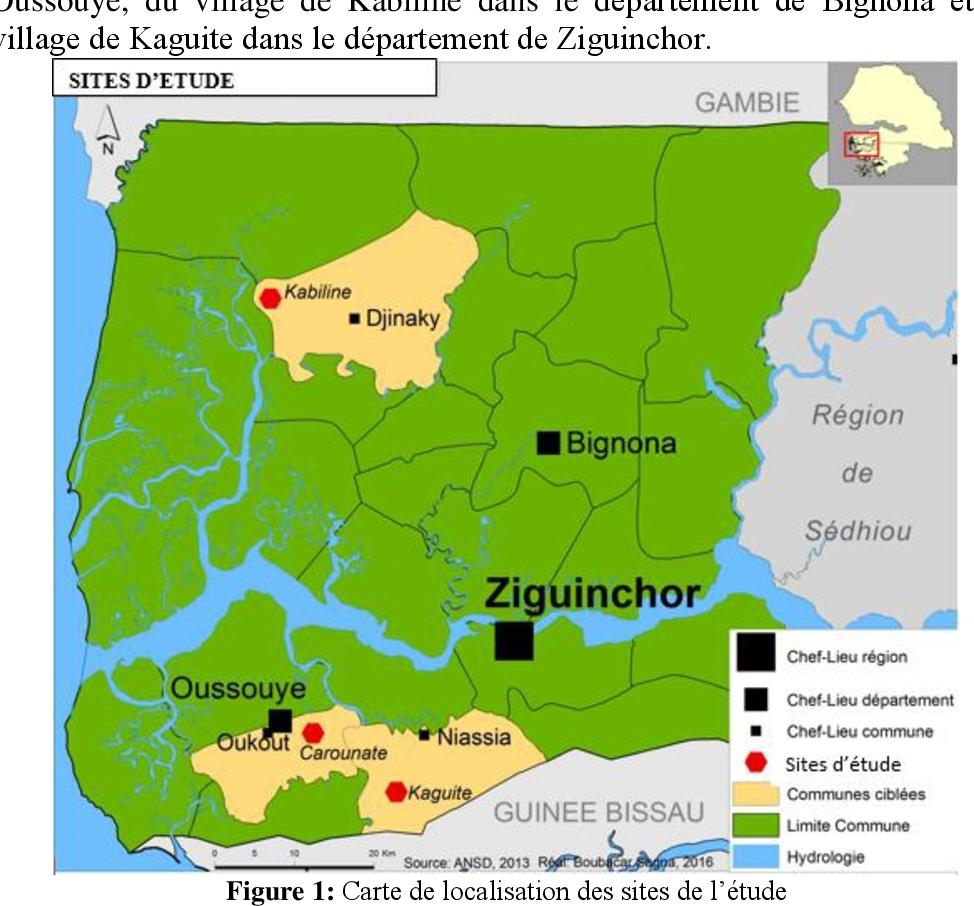 Importance Socioéconomique De Elaeis Guineensis Jacq tout Carte Region Departement