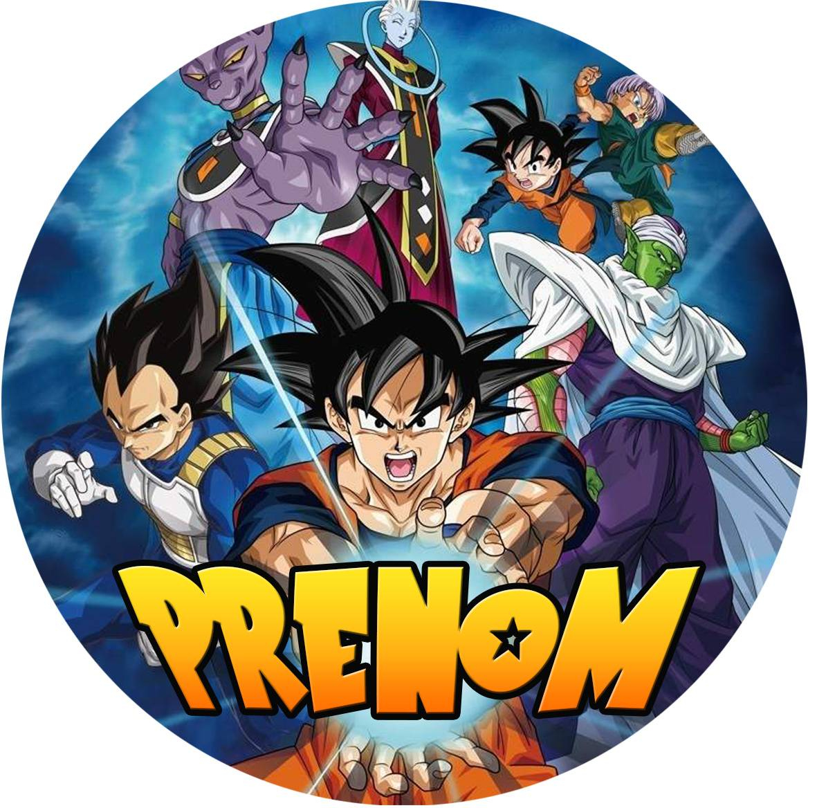 Impression Alimre Personnalisée Dragon Ball Super - Planete Gateau avec Dessin Animé De Dragon Ball Z