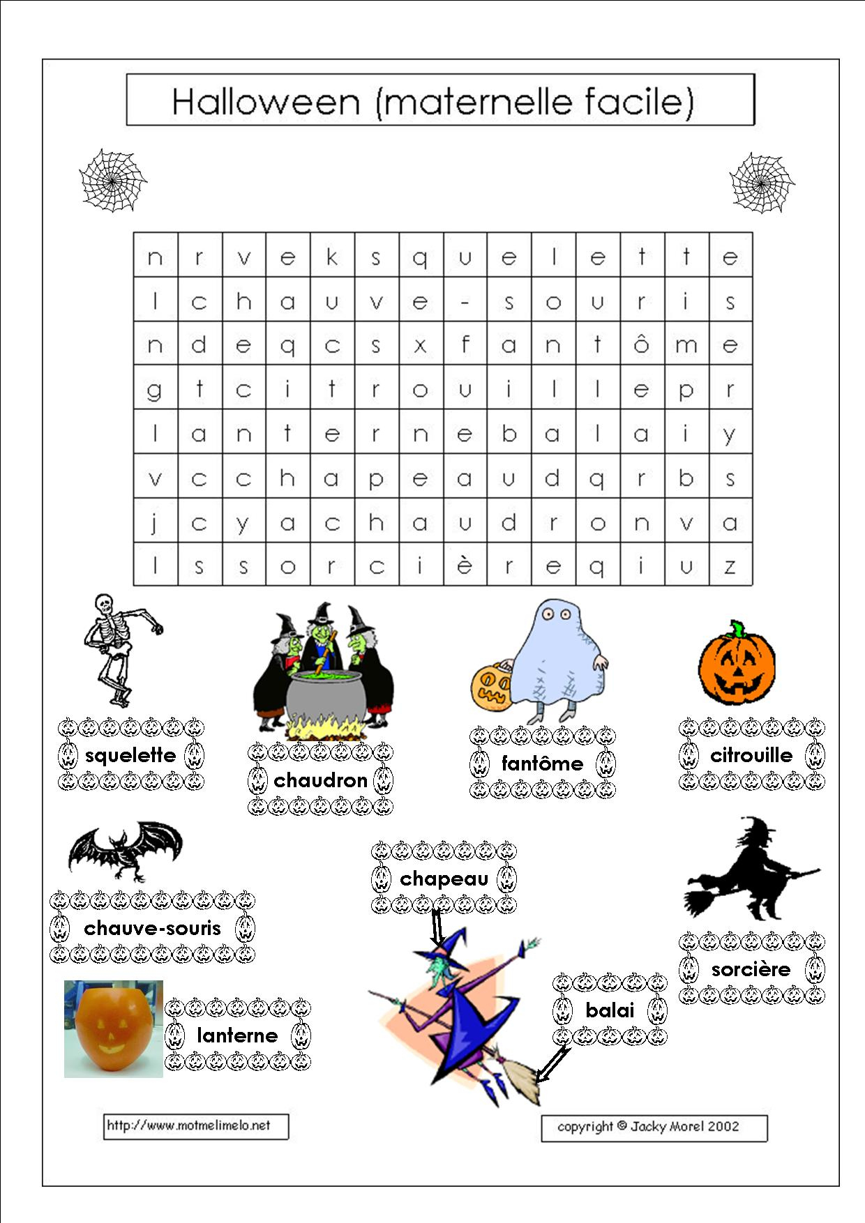 Impressions De L'halloween | Fêtes | La Pomme Verte intérieur Mots Croisés Gratuits À Imprimer Cycle 3