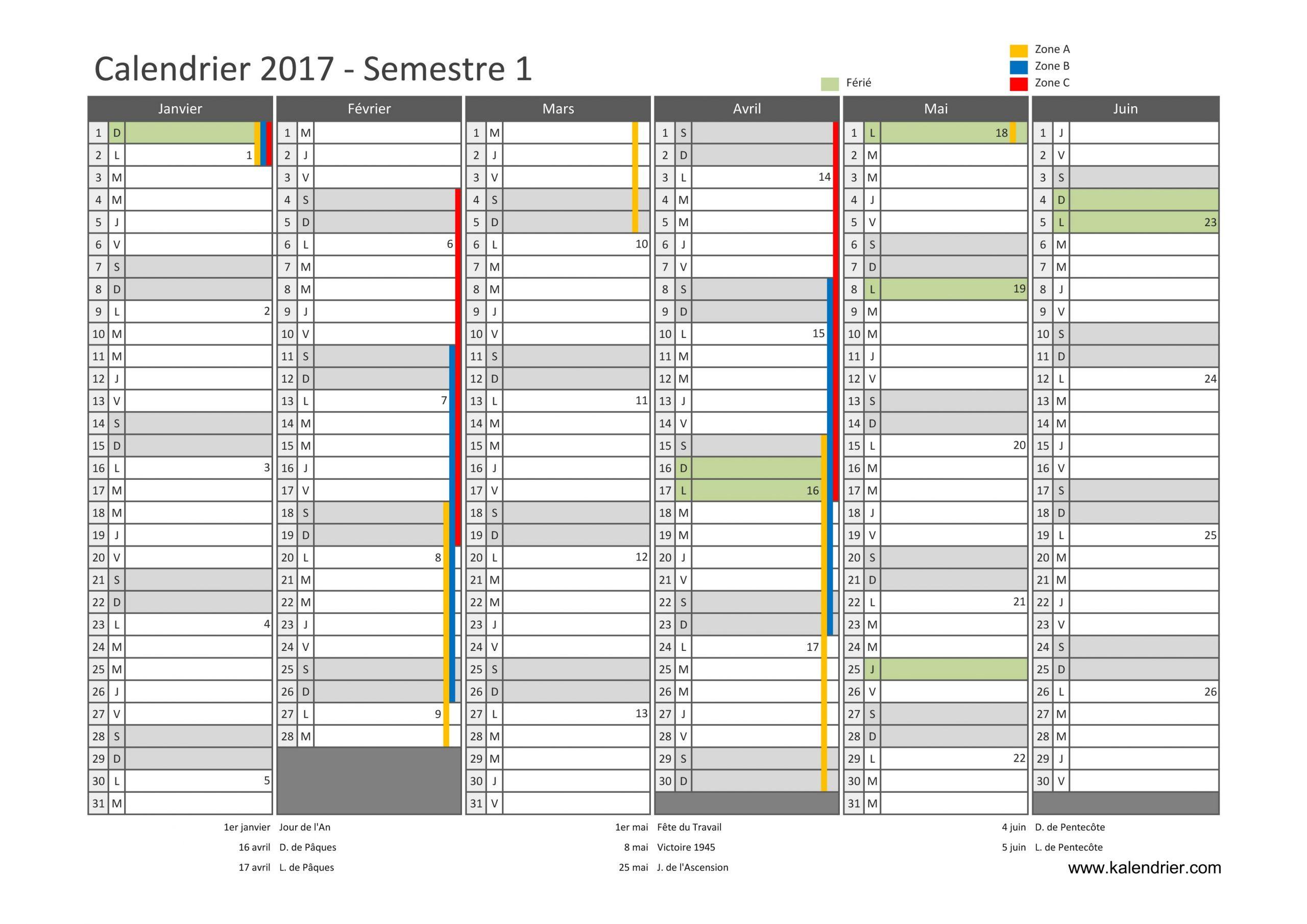 Imprimer Calendrier 2017 Gratuitement - Pdf, Xls Et Jpg à Calendrier 2017 En Ligne