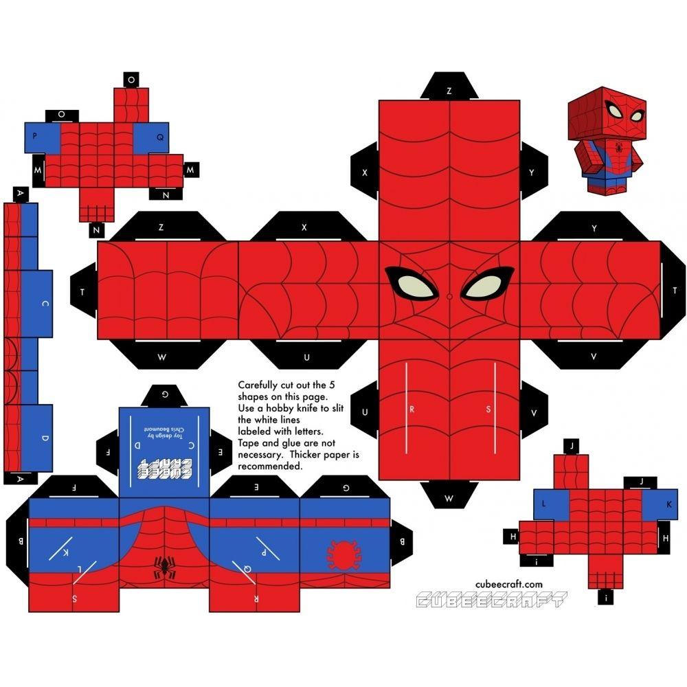 Imprimer Le Patron Du Papertoy 1 | Spiderman, Paper Toy avec Paper Toy A Imprimer