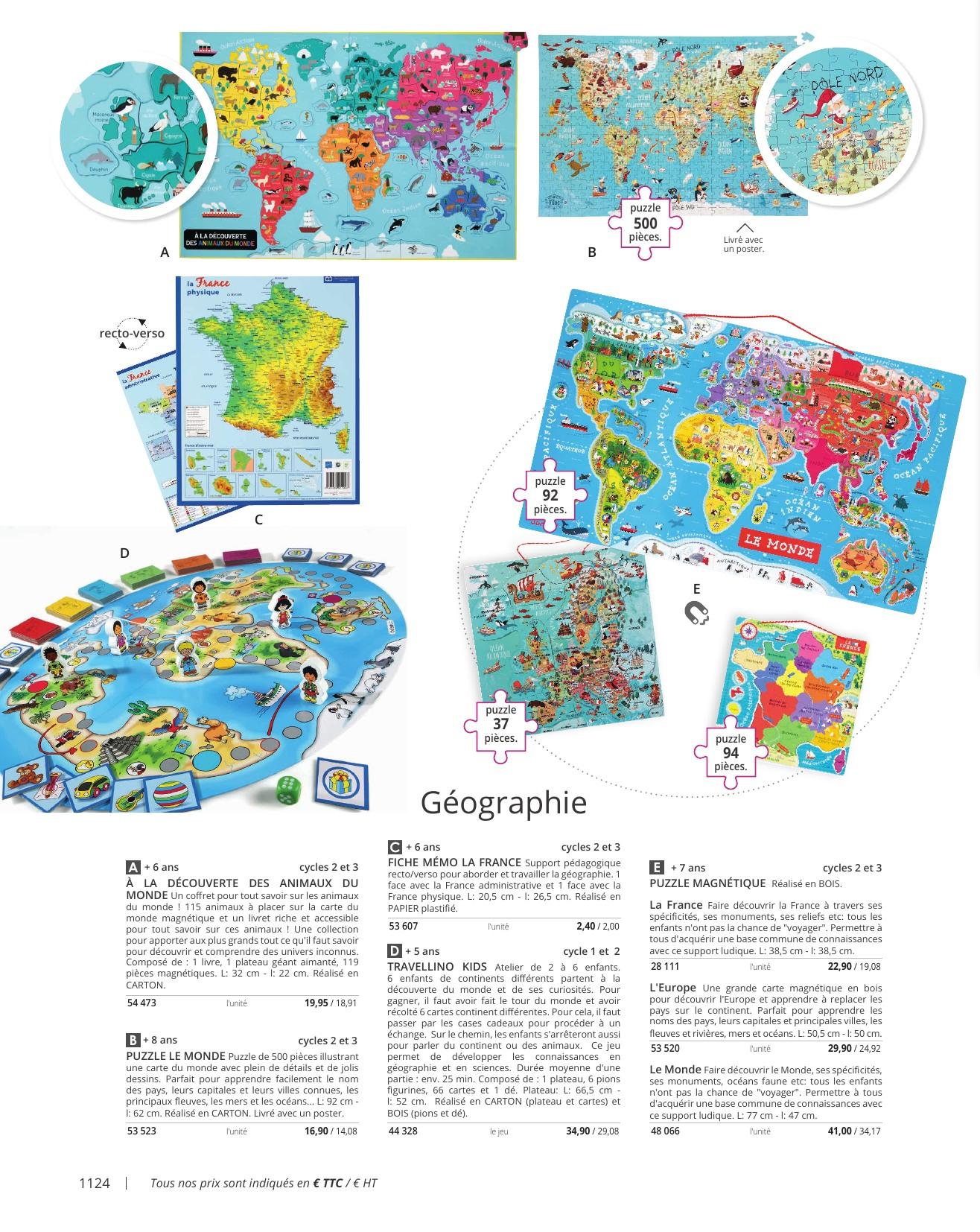 Index dedans Carte De France Ludique