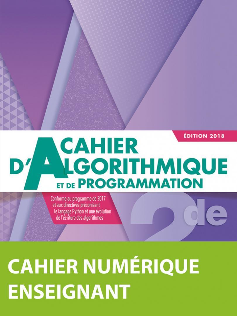 Indice Maths Algorithmique 2De * Cahier Numérique Enseignant concernant Cahier De Vacances Gratuit En Ligne