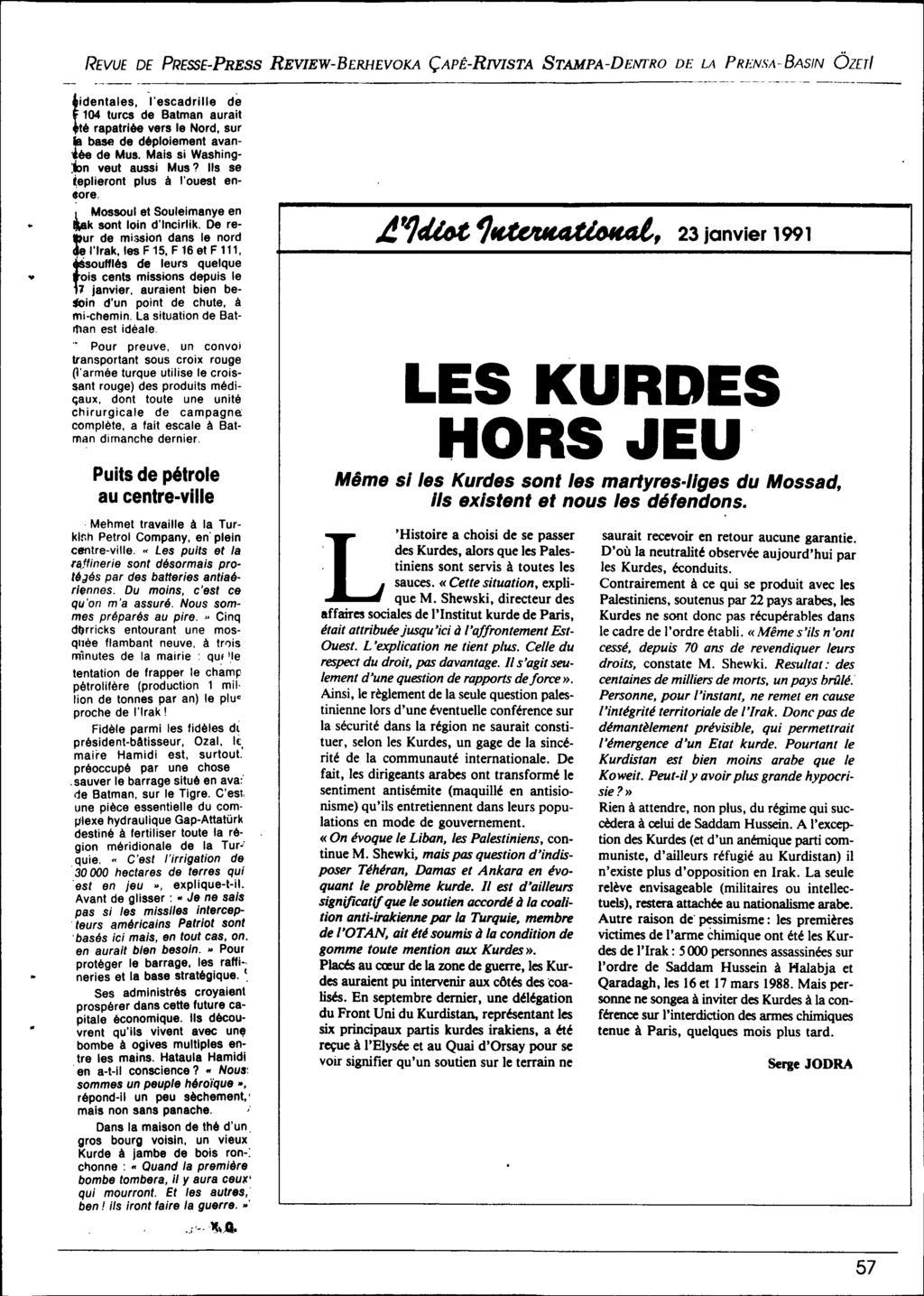 Institut Urd De Paris. Bulletin De Liaison Et D'rmation avec Mot Croiser
