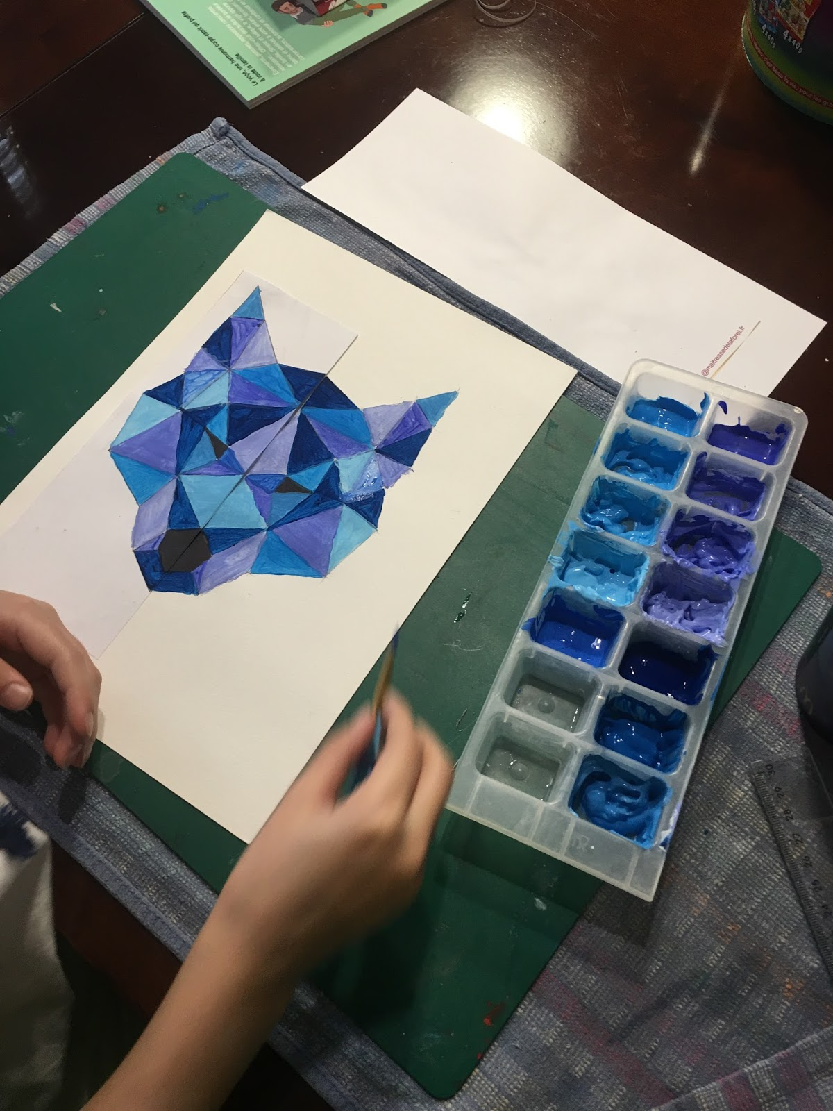 Instruction En Folie: Arts Visuels : Loup Et Symétrie. destiné Arts Visuels Symétrie