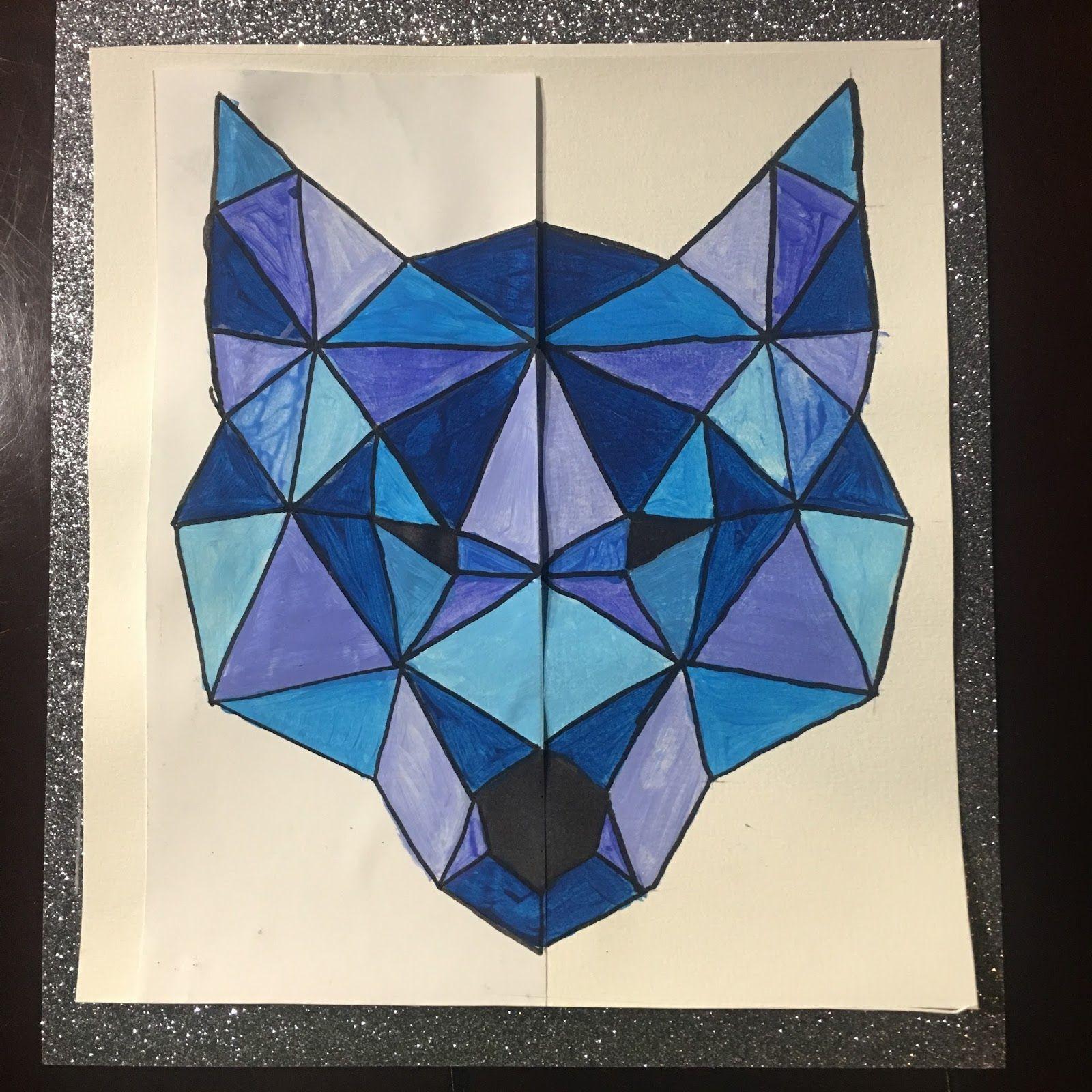 Instruction En Folie: Arts Visuels : Loup Et Symétrie tout Arts Visuels Symétrie