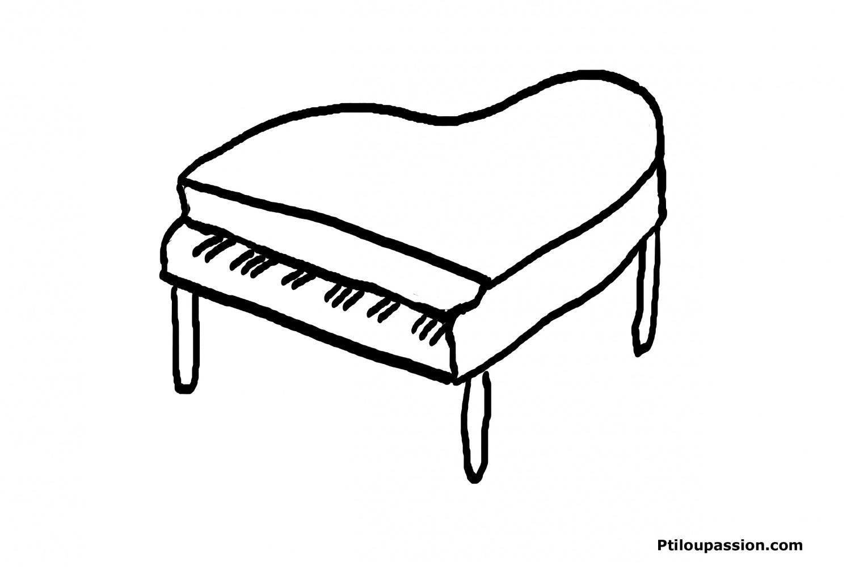 Instruments De Musique #14 (Objets) – Coloriages À Imprimer avec Image Instrument De Musique À Imprimer