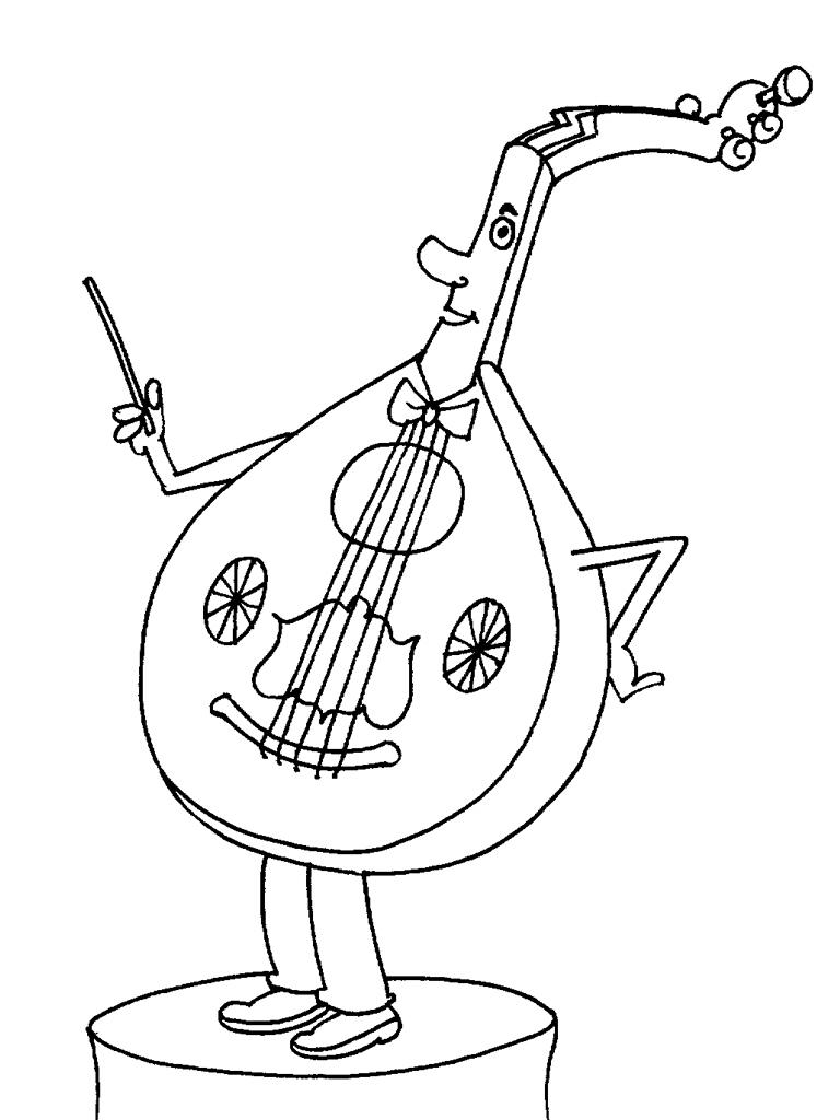 Instruments De Musique #180 (Objets) – Coloriages À Imprimer intérieur Image Instrument De Musique À Imprimer