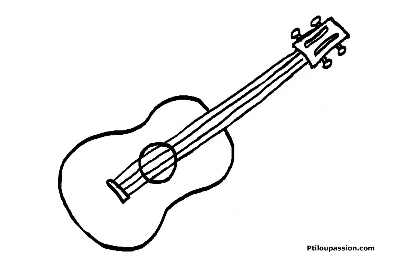 Instruments De Musique #22 (Objets) – Coloriages À Imprimer concernant Image Instrument De Musique À Imprimer