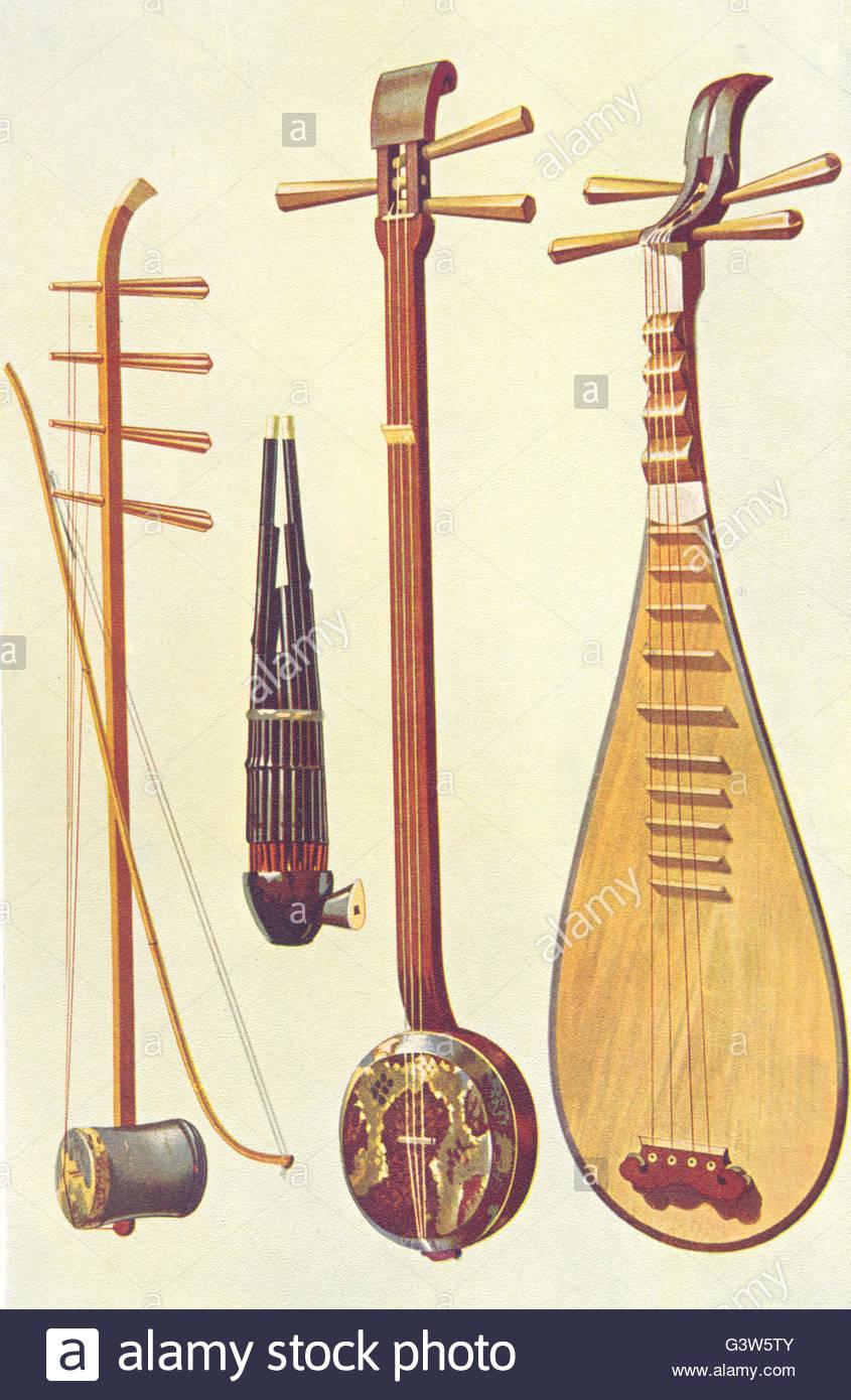 Instruments De Musique :'hu-Ch San-Hsein Dans Bow & Sheng P concernant Image Instrument De Musique À Imprimer
