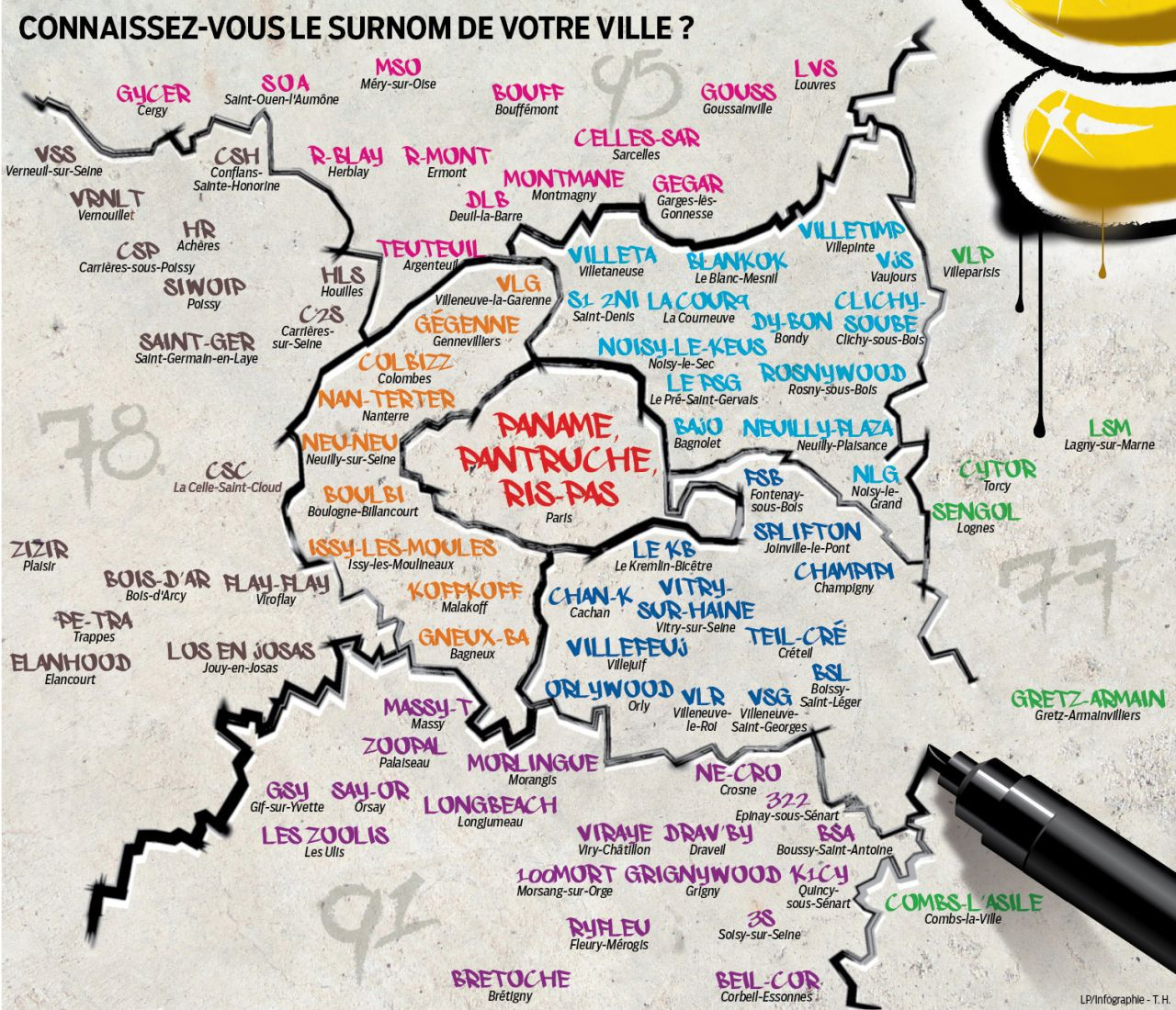 Interactif. Ile-De-France : Votre Bled, C'est Quoi Son Blaze avec Jeux Des Villes De France