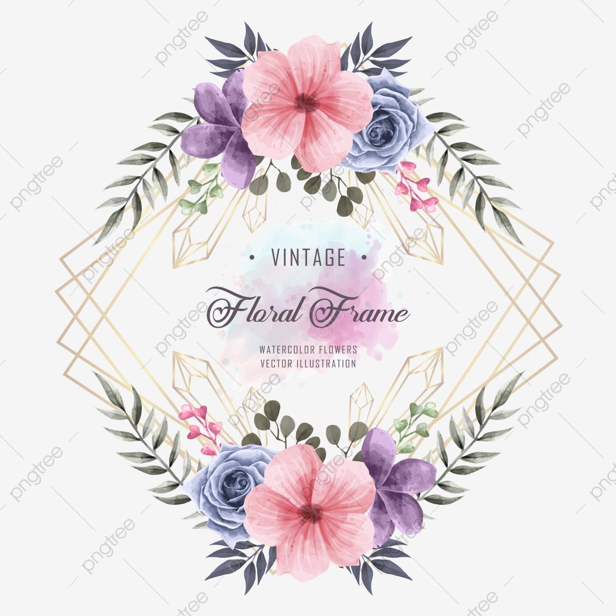 Invitation De Mariage Avec Décoration De Cadre Floral avec Schéma D Une Fleur