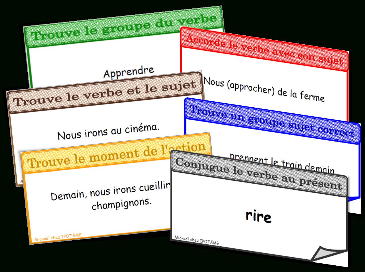 Ipotâme .tâme: Ce2 : Jeu Conjugaison Grammaire dedans Jeux Ce2 À Imprimer