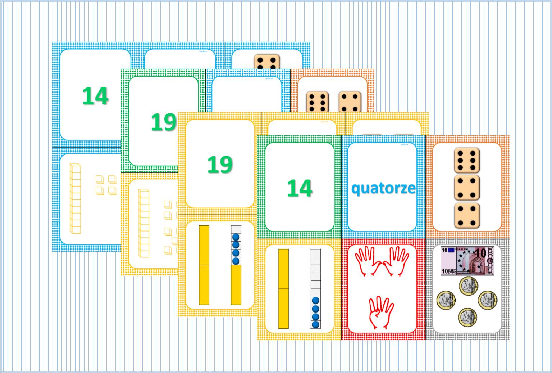 Ipotâme .tâme: Cp Ce1 Numération : Jeu De 7 Familles encequiconcerne Jeux Avec Des Nombres
