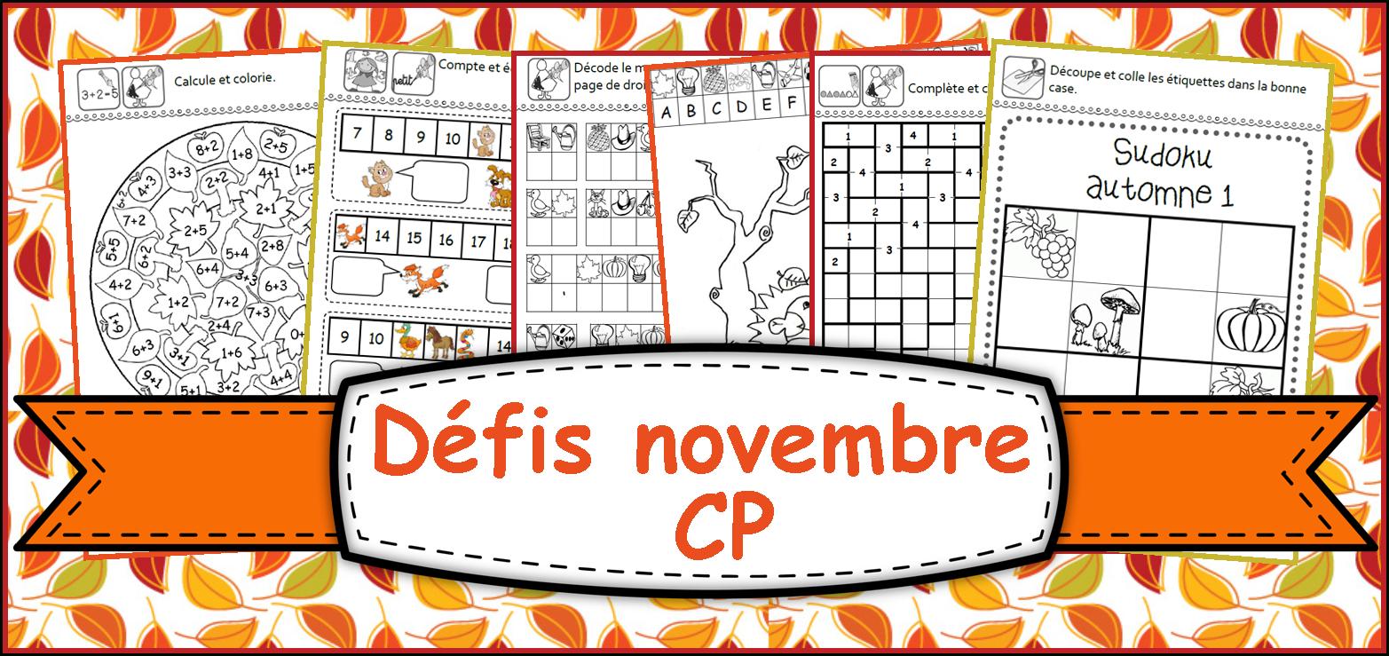 Ipotâme .tâme: Cp : Défis Novembre Avec L'automne dedans Sudoku Maternelle À Imprimer