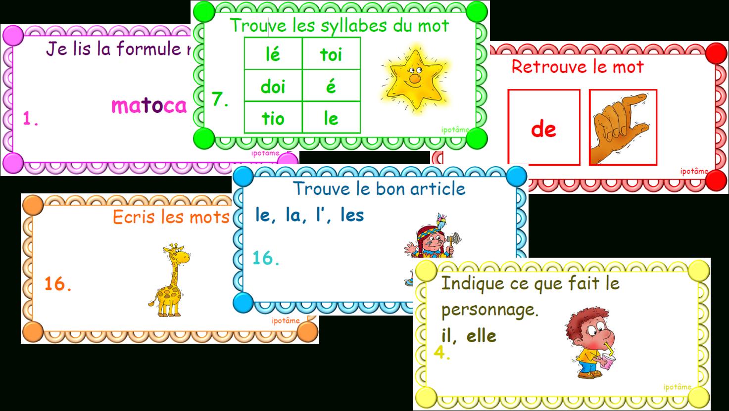 Ipotâme .tâme: Cp : Jeu De Lecture, Grammaire, Orthographe à Jeux Cp À Imprimer