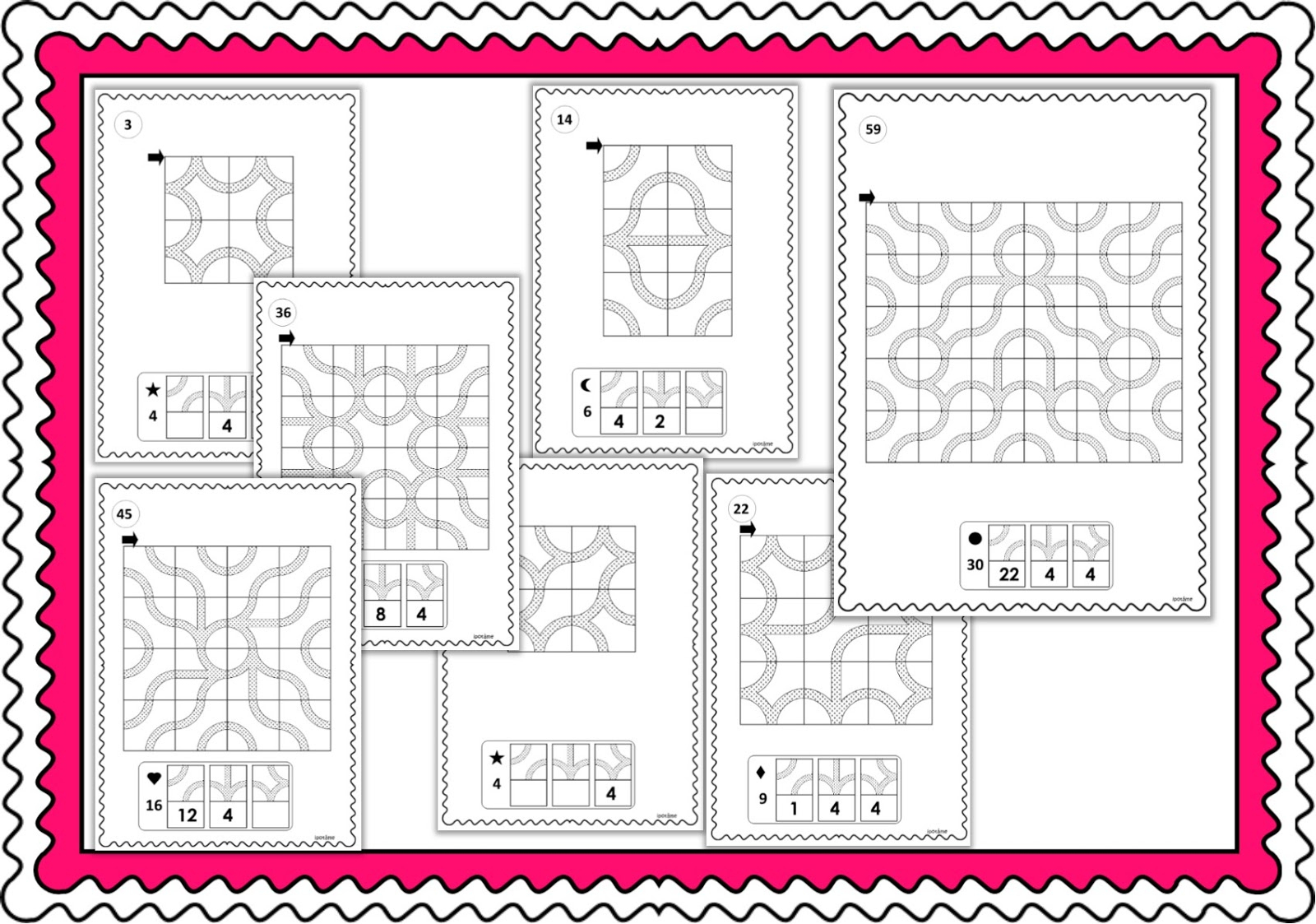 Ipotâme .tâme: Cycle 2 Pavages Géométriques, Reproduction tout Reproduction Sur Quadrillage Ce2