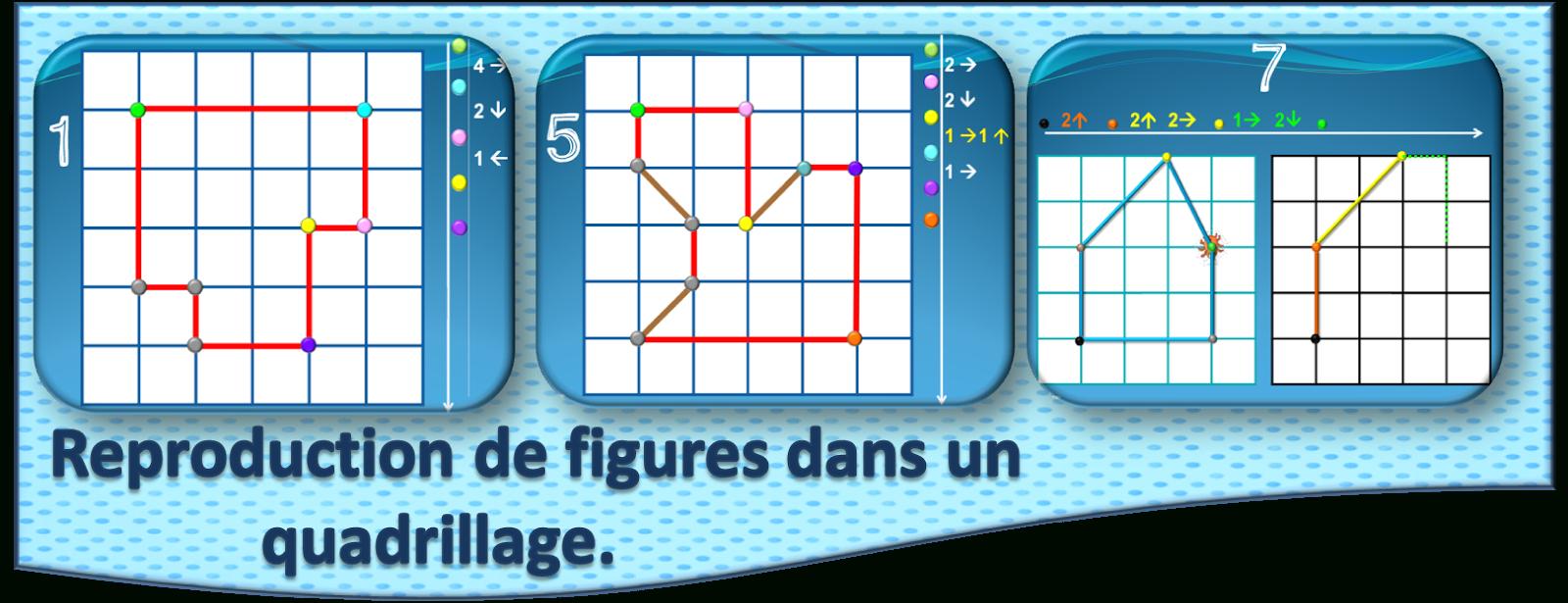 Ipotâme .tâme: Géométrie : Reproduction De Figures Dans intérieur Reproduction Sur Quadrillage Ce1