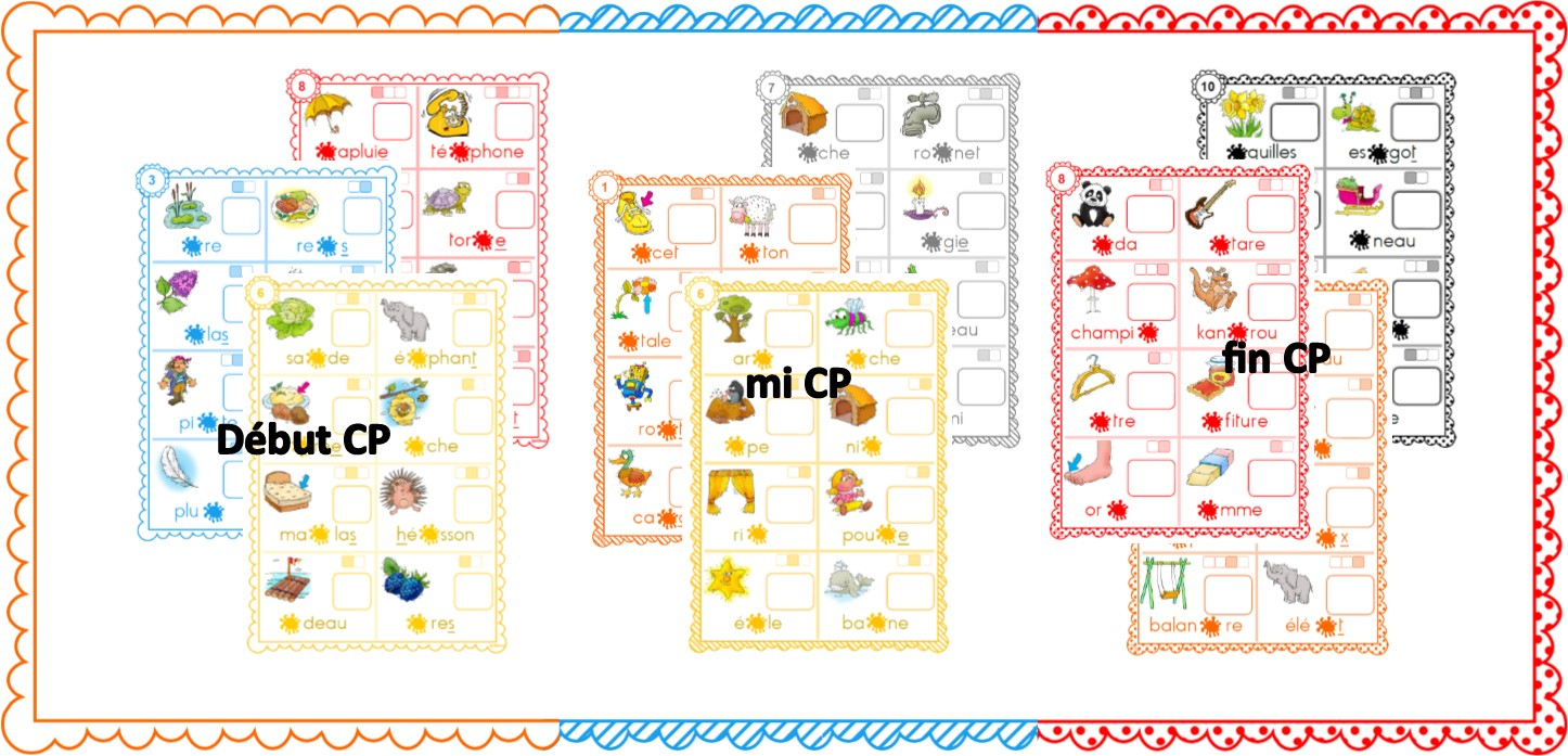 Ipotâme .tâme: Lecture Cycle 2 Jeu : Loto Des Syllabes tout Jeux Enfant Cp
