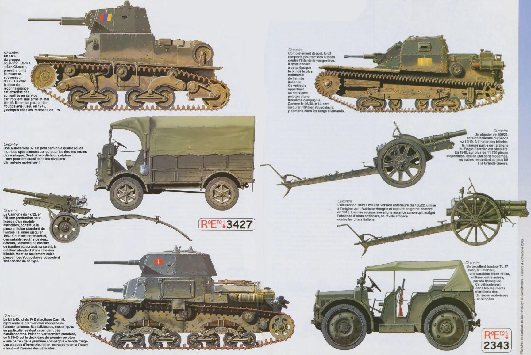 Italian Fighting Vehicles & Guns North Africa | Savaş, Tank dedans Un Mot Pour Quatre Images