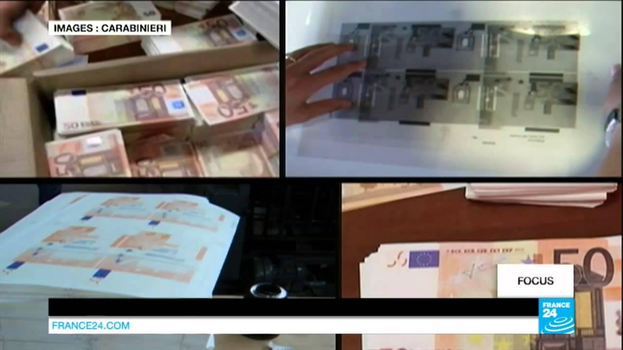 Italie – La Fabrication De Faux Billets D'Euros, Spécialité De La Mafia  Napolitaine tout Billet Euro A Imprimer