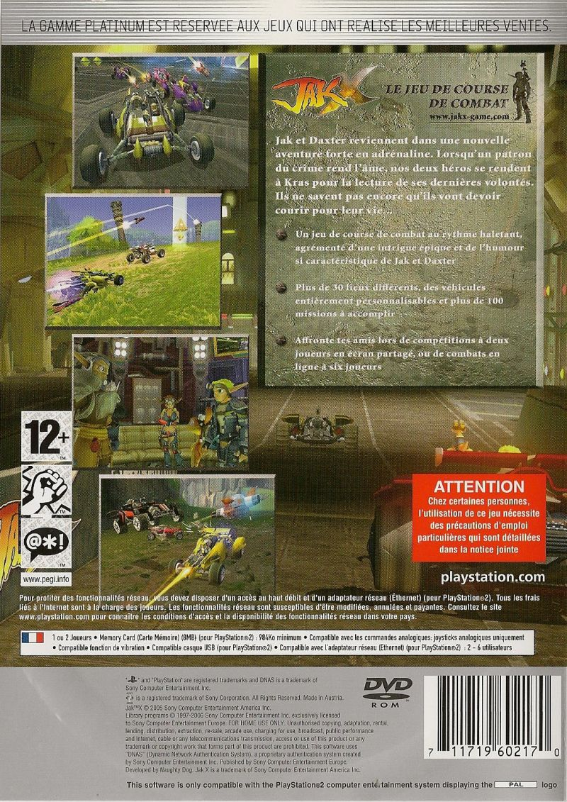 Jak X: Combat Racing (2005) Box Cover Art - Mobygames destiné Jeu Memory En Ligne