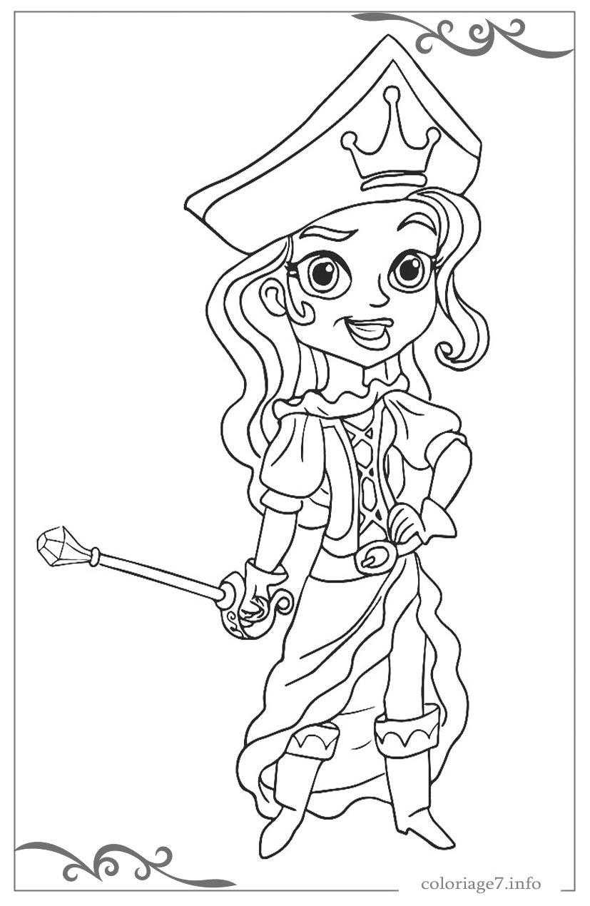 Jake Et Les Pirates Du Pays Imaginaire De Coloriages Pour pour Dessin A Imprimer De Pirate